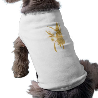 Golden Bird Sleeveless Dog Shirt