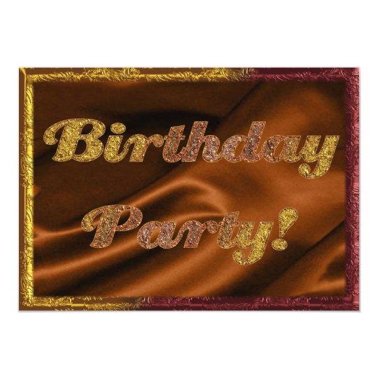 Golden Birthday Party Invitation