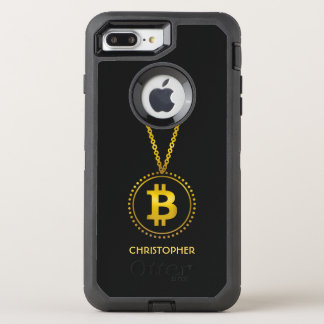 Golden Bitcoin Symbol Cryptocurrency HODL Funny OtterBox Defender iPhone 8 Plus/7 Plus Case