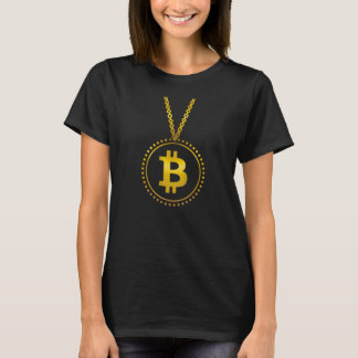 Golden Bitcoin Symbol Cryptocurrency HODL Funny T-Shirt