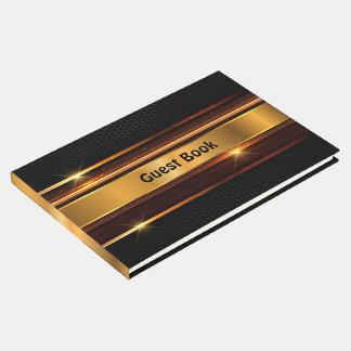 Golden Black Guest Book