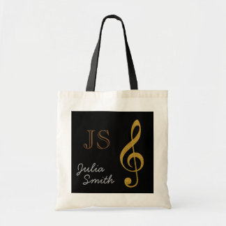 golden black music g-clef note personalized