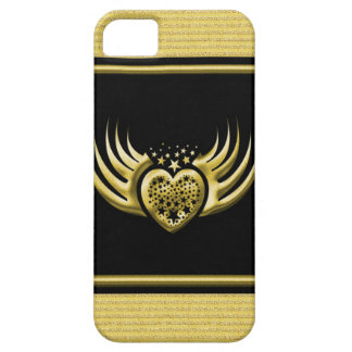 Golden Black Winged Heart iPhone 5 Cover