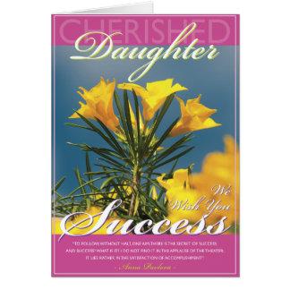 Golden Bloom Daughter Success Card