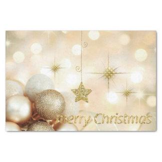 Golden Bokeh Ornament Balls & Stars Christmas Tissue Paper