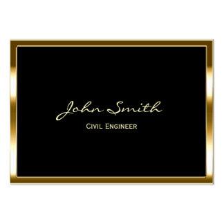 Golden Border Civil Engineer Business Card
