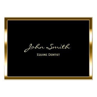 Golden Border Equine Dentist Business Card