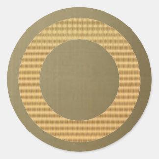 Golden Border Gift Identifiers - Gold  Silky Green Round Sticker
