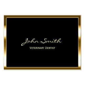Golden Border Veterinary Dentist Business Card
