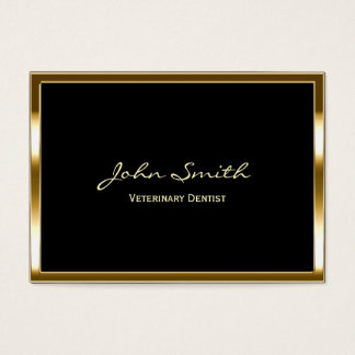 Golden Border Veterinary Dentist Business Card