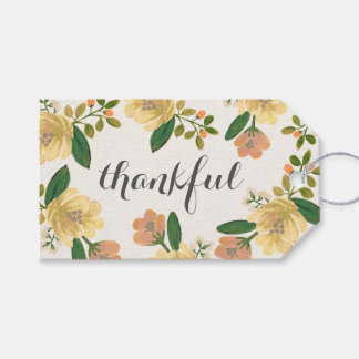 Golden Bouquet Thankful Gift Tags