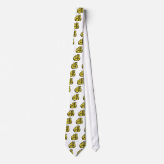 golden boxing gloves graphic tie
