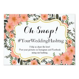 Golden Bracket Wedding Hashtag Card