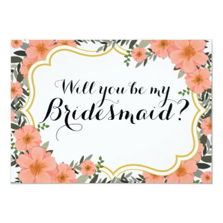 Golden Bracket Will you be my Bridesmaid Card