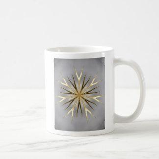Golden Branch Kaleidoscope Basic White Mug
