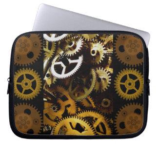 Golden Brass Clockwork Gears Laptop cover