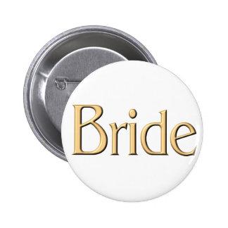 Golden Bride button