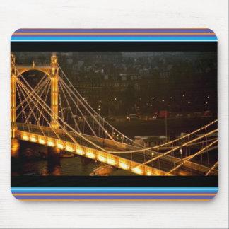 Golden Bridge London Night Light Reflections gifts Mouse Pad
