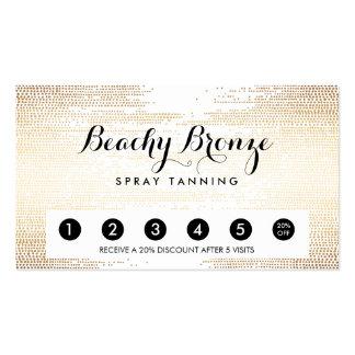 Golden Bronze Confetti Dots Salon Punch Card Pack Of Standard Business Cards