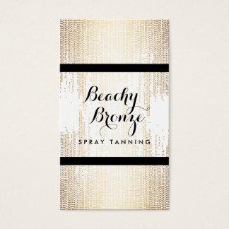 Golden Bronze Confetti Dots Spray Tanning Salon