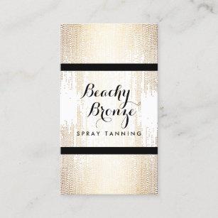 Spray tan business cards zazzle au golden bronze confetti dots spray tanning salon business card reheart Gallery