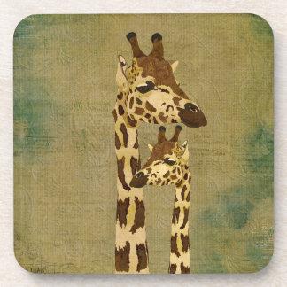 Golden Bronze Giraffes Coaster