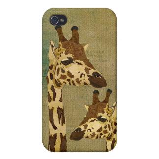 Golden Bronze Giraffes i Cases For iPhone 4