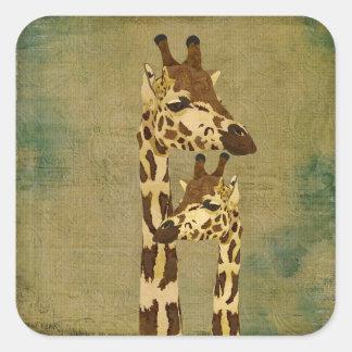 Golden Bronze Giraffes Sticker