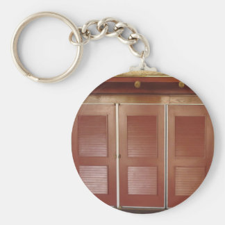 Golden Brown Building Interior Decorations Key Chain