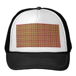 Golden Brown Checks Artist created elegant pattern Cap