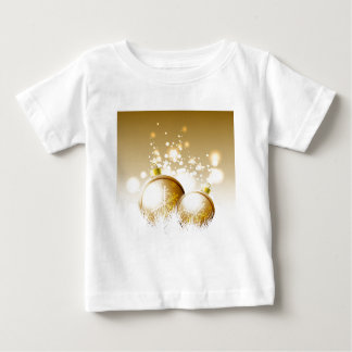Golden brown new year decoration with snow baby T-Shirt