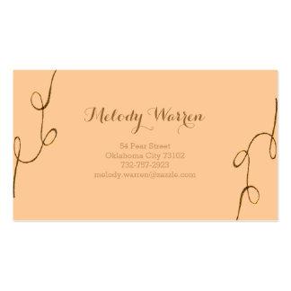 Golden - Brown Ornament Business Card