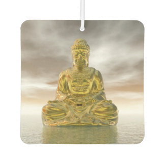 Golden buddha - 3D render Car Air Freshener