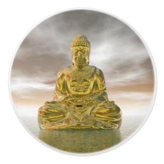 Golden buddha - 3D render Ceramic Knob