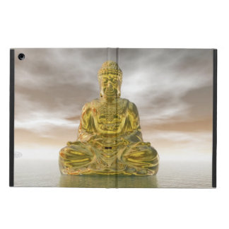 Golden buddha - 3D render Cover For iPad Air
