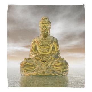 Golden buddha - 3D render Head Kerchief
