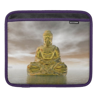 Golden buddha - 3D render iPad Sleeve