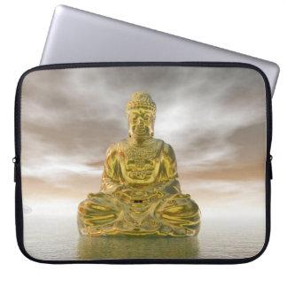 Golden buddha - 3D render Laptop Sleeve