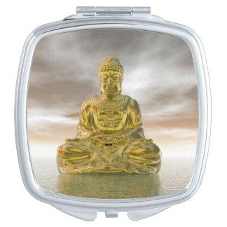 Golden buddha - 3D render Mirror For Makeup