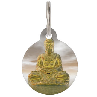 Golden buddha - 3D render Pet Tag