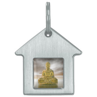 Golden buddha - 3D render Pet Tag