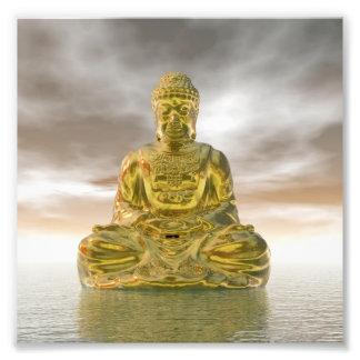 Golden buddha - 3D render Photo Print
