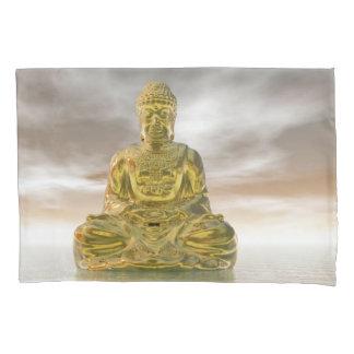 Golden buddha - 3D render Pillowcase