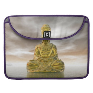 Golden buddha - 3D render Sleeves For MacBook Pro