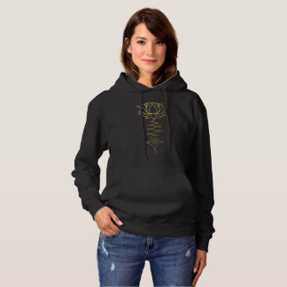 Golden Buddha and Lotus Hoodie