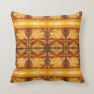 Golden Buddha Art Pillow by Deprise
