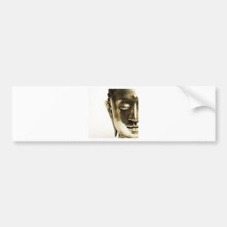 Golden Buddha Head Bumper Sticker