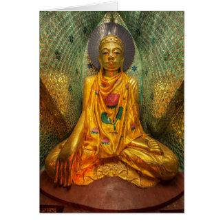 Golden Buddha In Temple Card