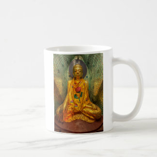 Golden Buddha In Temple Coffee Mug