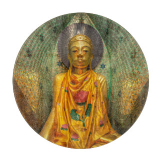 Golden Buddha In Temple Cutting Board